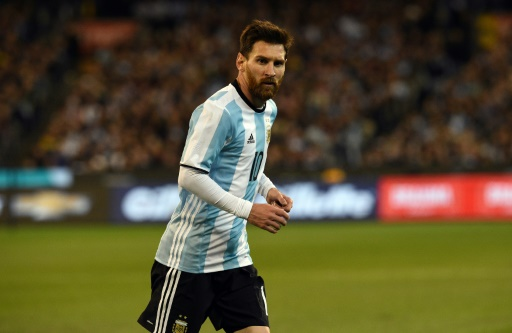 La star argentine Lionel Messi lors du match amical face au Brésil, le 9 juin 2017 à Melbourne
