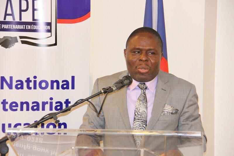 Le ministre de l'Education Nationale Pierre Josué Angenor Cadet/ Crédit photo: