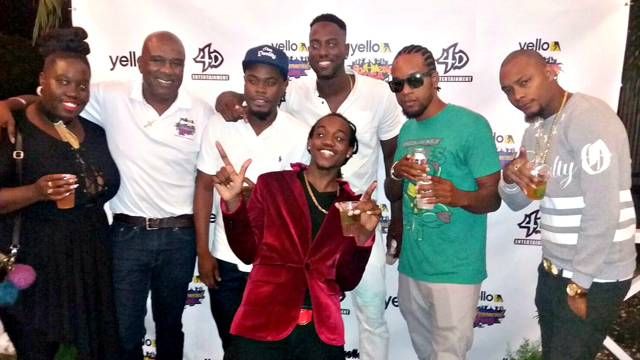 FILE - Some of the entrants of the 2017 Yello Bashment Soca competition at the press launch earlier this month.