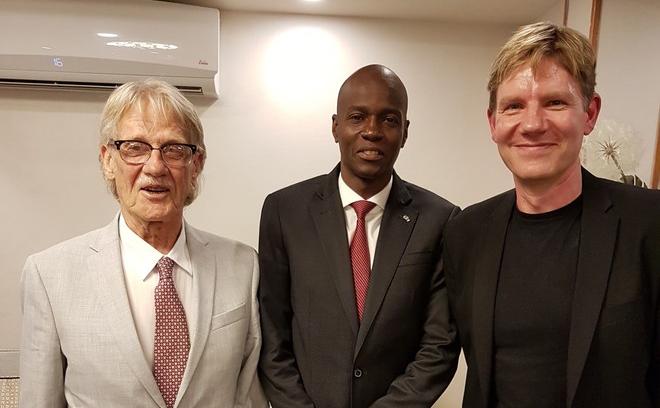 Le prix Nobel de l'économie Vernon Smith, Jovenel Moise et Bjorn Lomborg