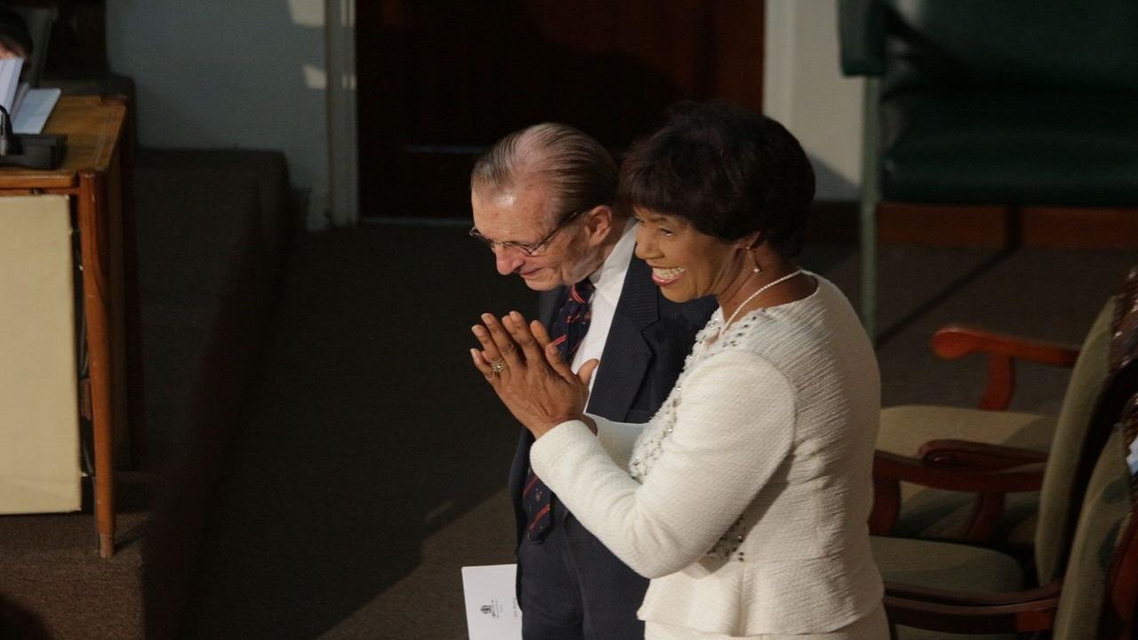 Portia Simpson Miller with fellow former prime minister, Edward Seaga inside Parliament on Tuesday. (PHOTO: Marlon Reid)