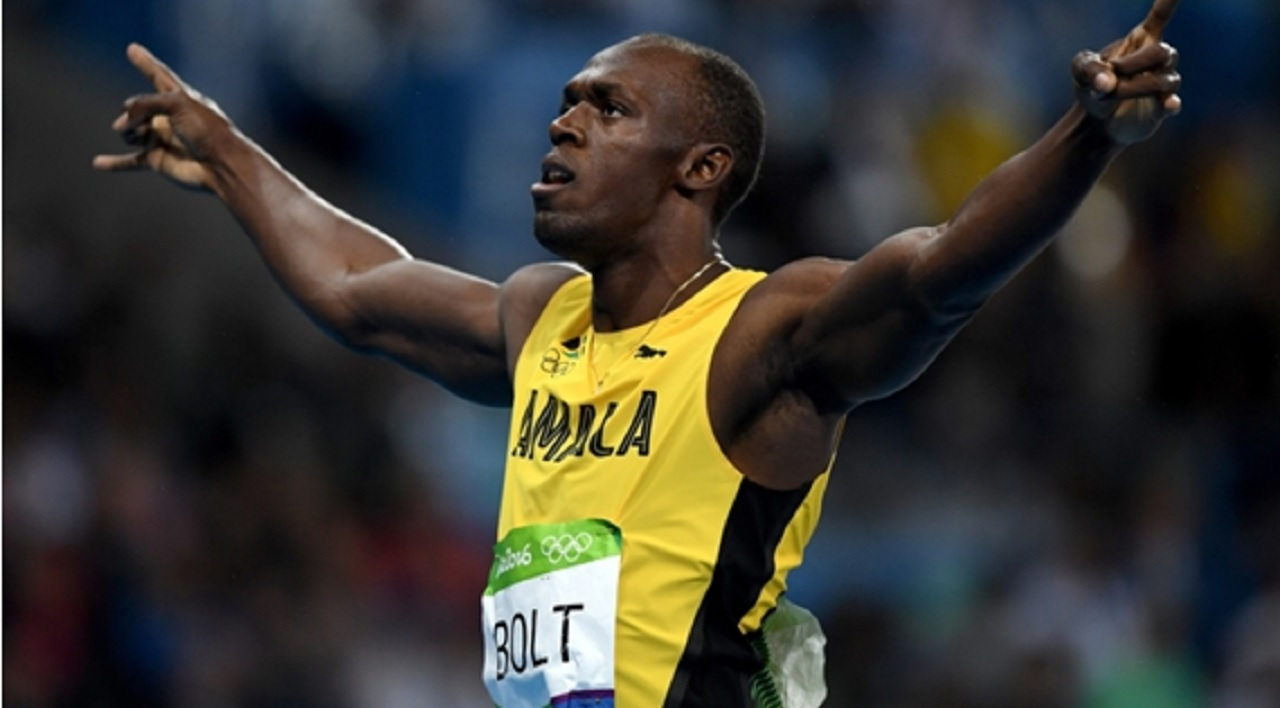 Global sprint sensation Usain Bolt.