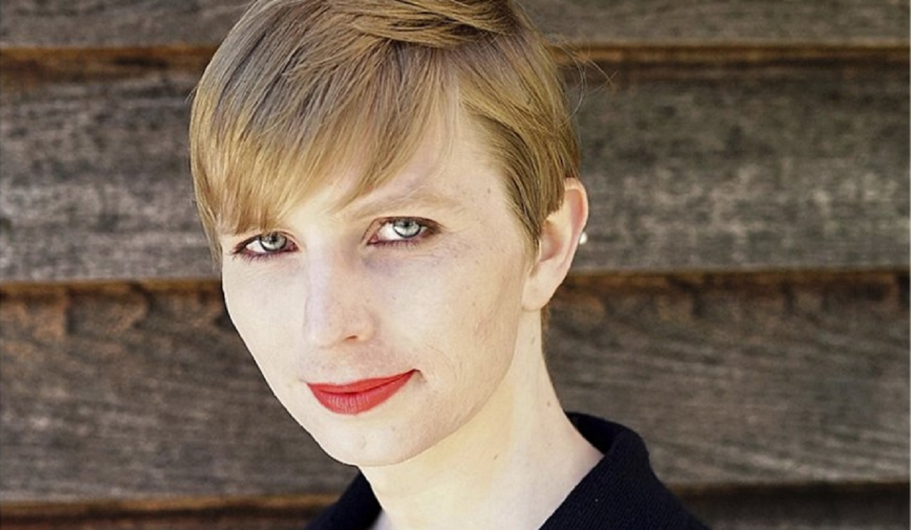 FILE - This undated file photo provided by Chelsea Manning shows a portrait of her that she posted on her Instagram account on Thursday, May 18, 2017.