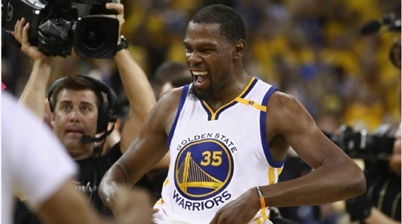 5815467eaeab Kevin Durant named NBA Finals MVP in first championship run