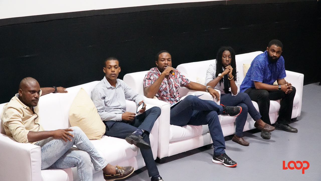 Panellists at the Global Shapers Bridgetown Hub Youth Forum on Wednesday morning.