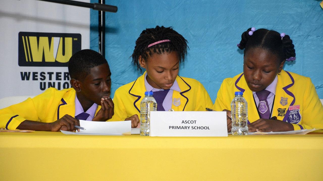 Members of the Ascot Primary debate team.