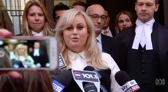 Rebel Wilson after the case.