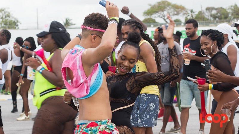 Revellers at the recent Kadooment Out Of Season Jam.