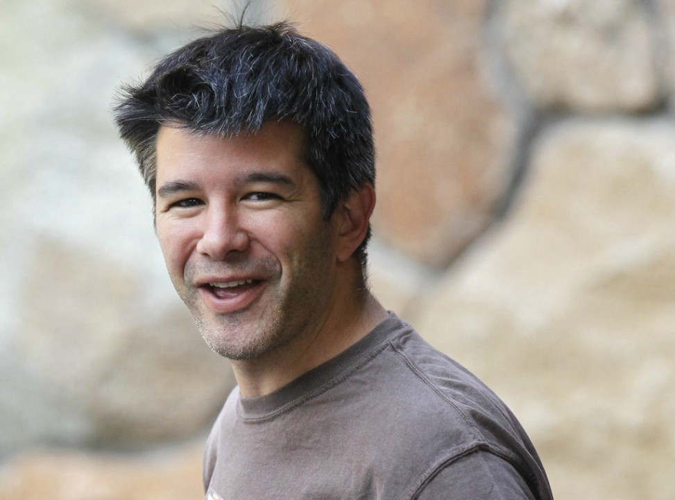 In this July 10, 2012, file photo, Uber CEO and co-founder Travis Kalanick arrives at a conference in Sun Valley, Idaho. Kalanick said in a statement to The New York Times on Tuesday that he has accepted a request from investors to step aside. Kalanick says the move will allow the ride-sharing company to go back to building itself rather than become distracted by another fight. (AP Photo/Paul Sakuma, File)