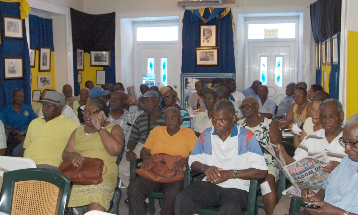 A section of the audience at the Astor B. Watts lecture at the Democratic Labour Party (DLP) headquarters.