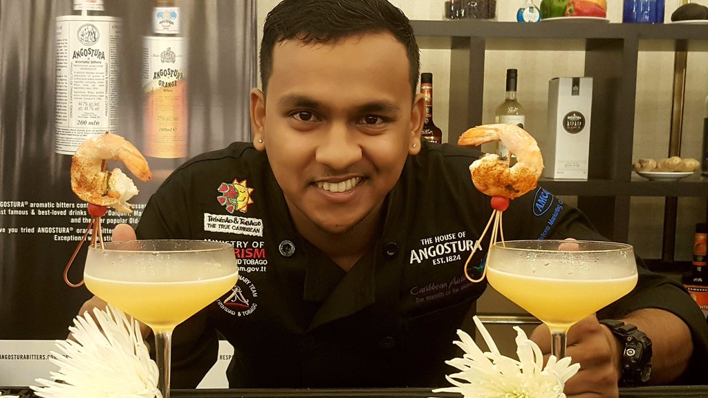 Bartender Clinton Ramdhan won Gold in the Bartender of the Year competition