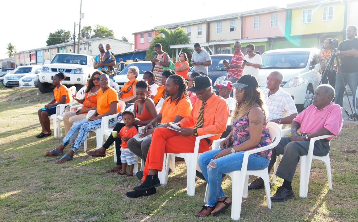Persons gathered to hear the message of the United Progressive Party (UPP) on Sunday in Eden Lodge, St. Michael.