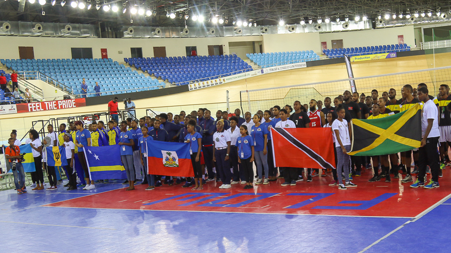 Caribbean teams in formation at the Opening Ceremony