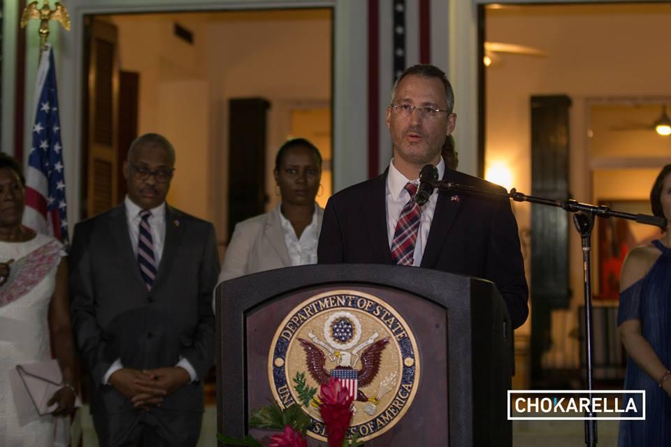 Brian Shukan, chargé d'Affaires de l'Ambassade des Etats-Unis. Credit photo: Chokarella