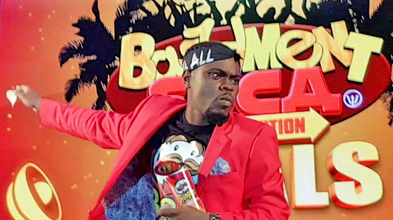 Stiffy during his winning performance at the 2017 Bashment Soca Finals.