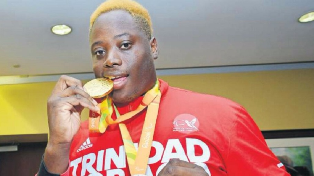 (Photo: Akeem Stewart won gold and silver in the Men's Javelin Throw and Men's Discus Throw at the 2016 Rio Paralympic Games).