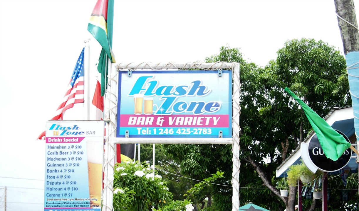 The Flashzone Bar and Variety located in Black Rock, St. Michael, around the corner from where 58-year-old Colleen Payne was shot and robbed after using an ATM.