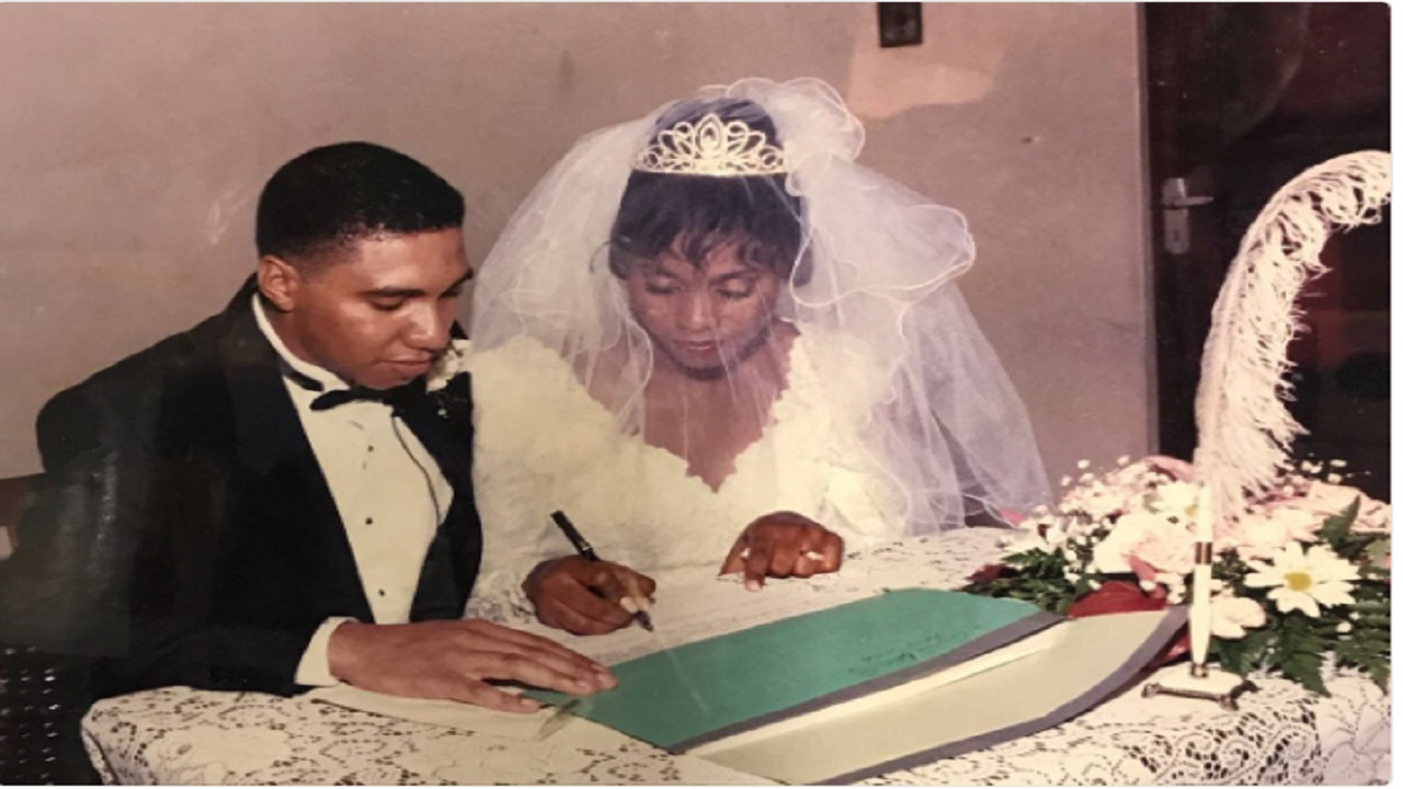 Prime minister, Andrew Holness and his wife, Juliet in earlier years.