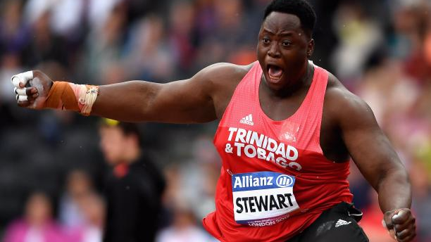 Paralympic athlete Akeem Stewart reacts to his record breaking throw. Photo: Getty Images