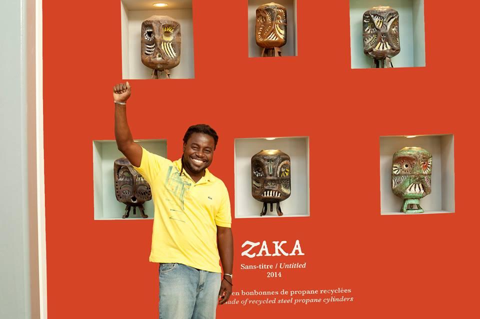 Le plasticien Joseph Marc Antoine dit Zaka