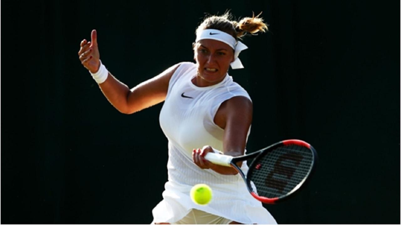 Petra Kvitova in action at Wimbledon.