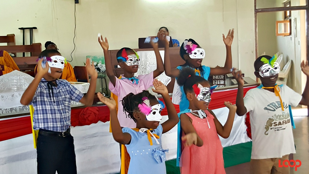 Some of the kids dressed in capes and masks to bring the 'Super God, Super Me' theme to life.