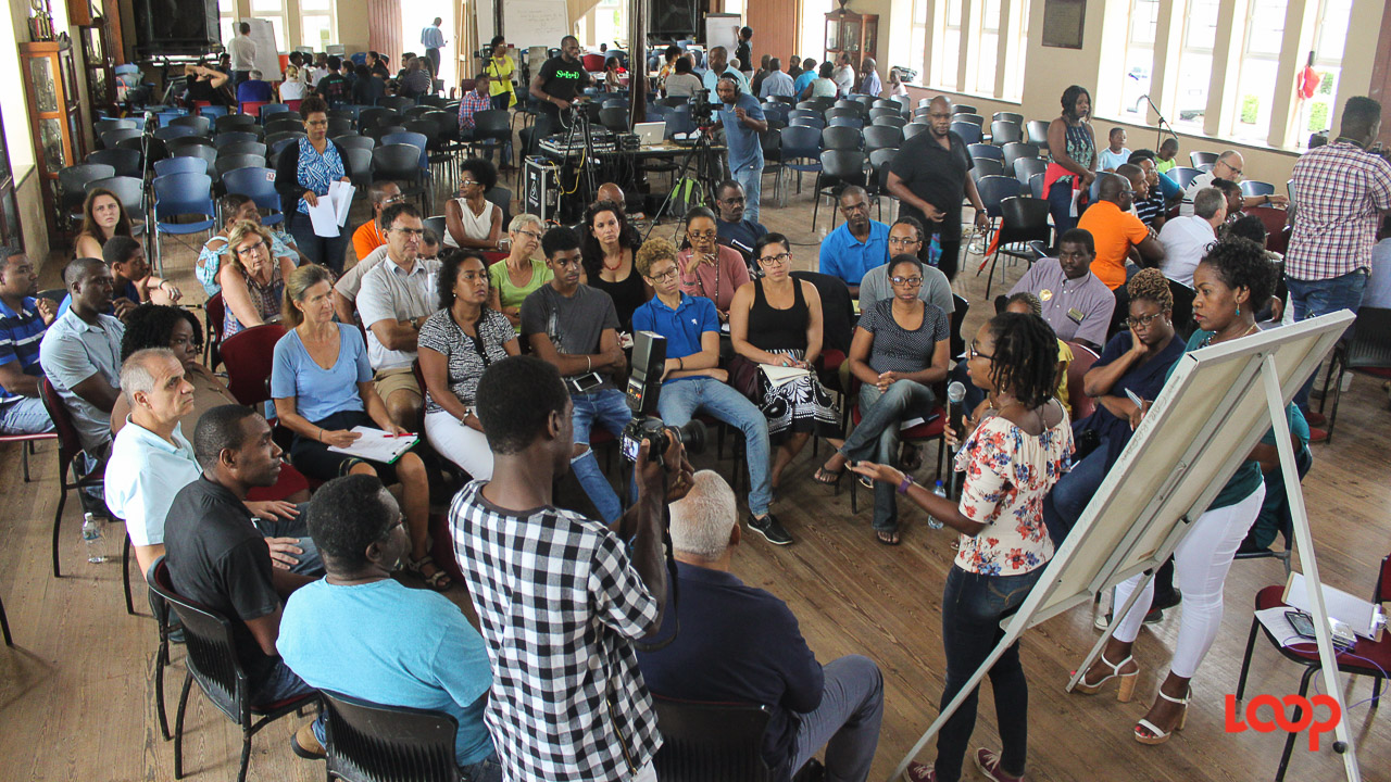 Participants in Saturday's public forum on Building A Better Barbados: From People to Policy.
