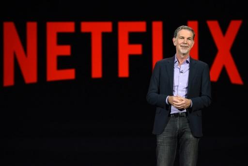 Le PDG de Netflix, au salon de l'électronique grand public CES de Las Vegas, le 6 janvier 2016