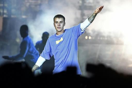 Le chanteur canadien Justin Bieber en concert à Paris, le 20 septembre 2016
