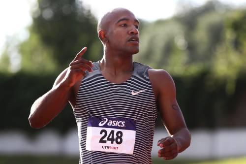 De sprinter van Groningen Atletiek eindigde op de baan Maarschalkerweerd in een tijd van 10,42 seconden.
