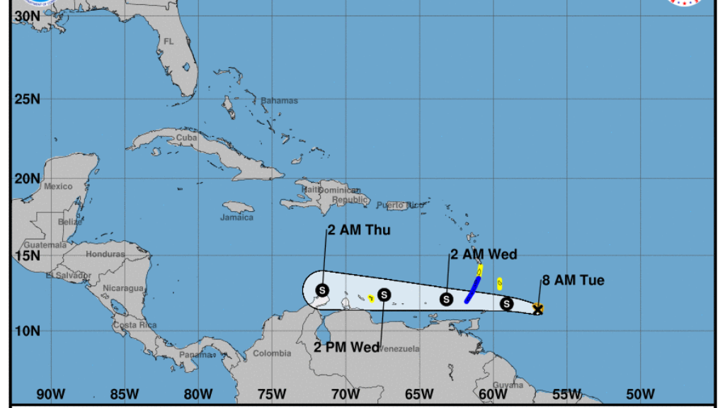 Tropical Storm Don 2017 tracks closer to Caribbean -- then where?