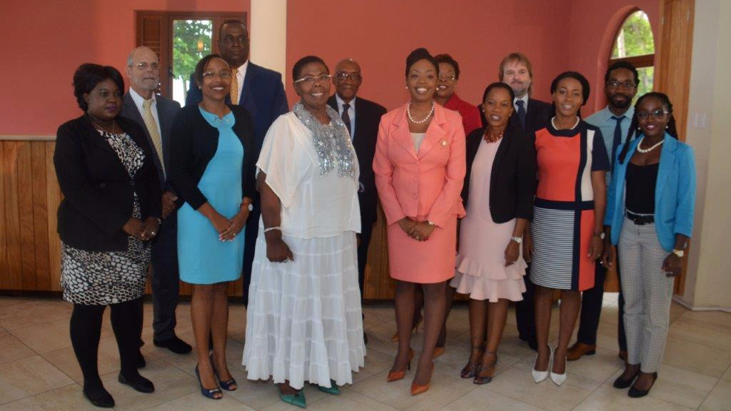 The Board of Directors for the TTA with Administrator for the Division of Tourism, Culture and Transportation, Mrs. Ingrid Ryan-Ruben (third from left) and Secretary Nadine Stewart-Phillips (fourth from right)