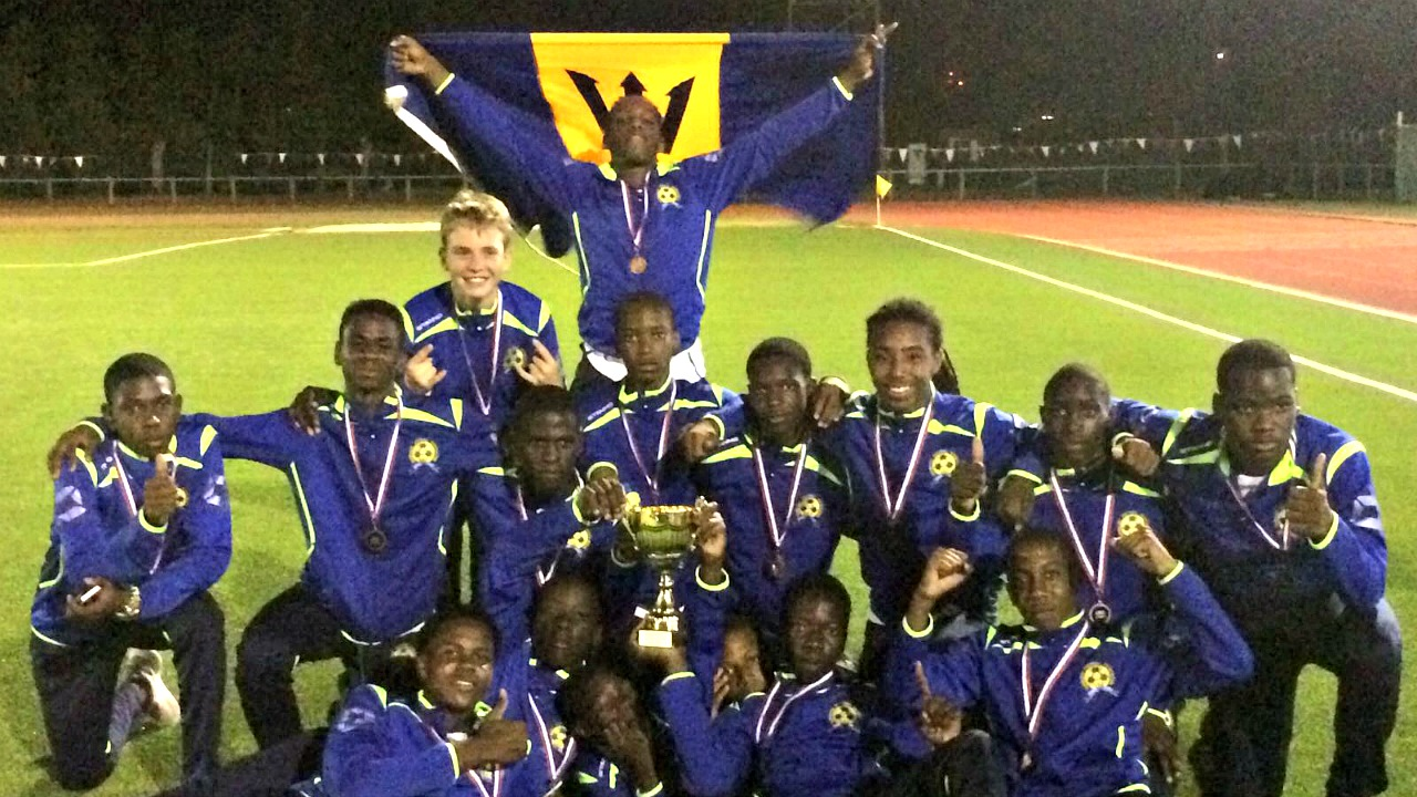 The Barbados U15 boys national team in St Martin.