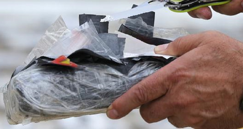 Seven rectangular packages were found in the suspects vehicle