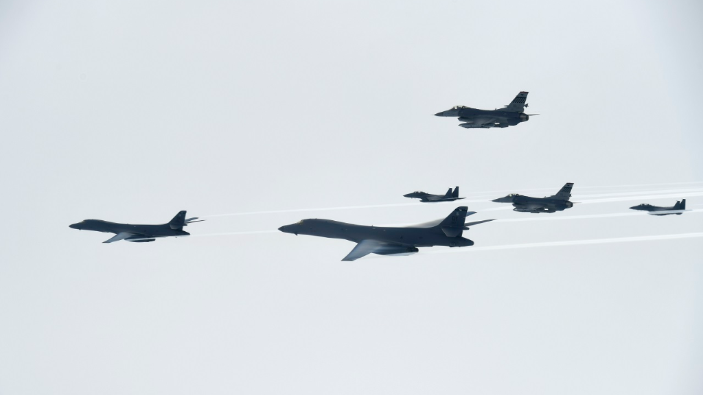 US Bombers Conduct Live-Fire Drill Near North Korean Border