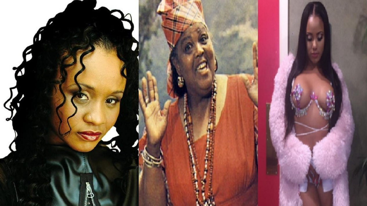 (From left) Tanya Stephens, Louise Bennett-Coverley and Ishawna.