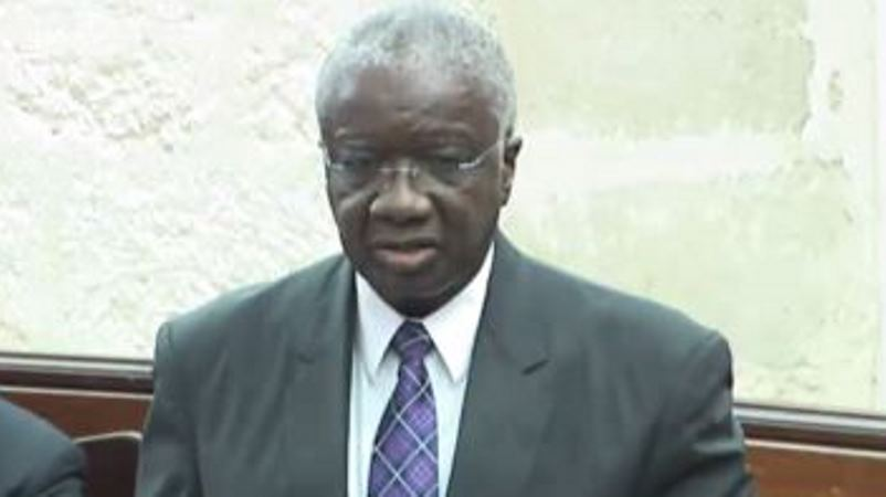 Prime Minister Freundel Stuart speaking in Parliament this afternoon.