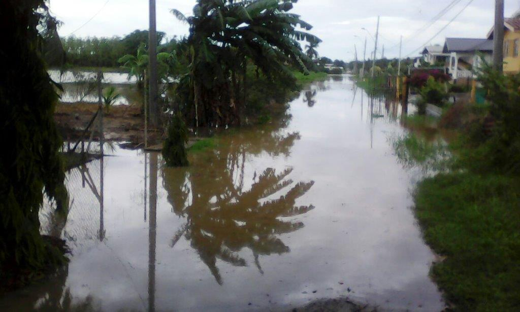 Flashback: Flooding in Tableland June 20. Photo via Councillor Michelle Benjamin