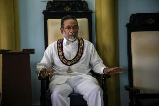 Lazaro Cuesta, grand Maître de la Grande loge de Cuba, dans le temple maçonnique de La Havane, le 27 juin 2017