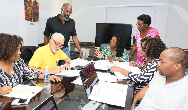 Haitian delegation visits to prepare for carifesta xiii for St charles craft show 2017
