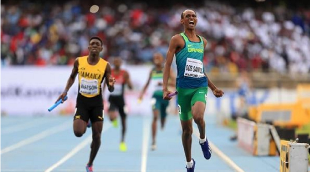 Brazil power home ahead of Jamaica in the final event (Mixed 4x400m relay) of the IAAF World U18 Championships in Nairobi, Kenya on Sunday. (PHOTO: IAAF).