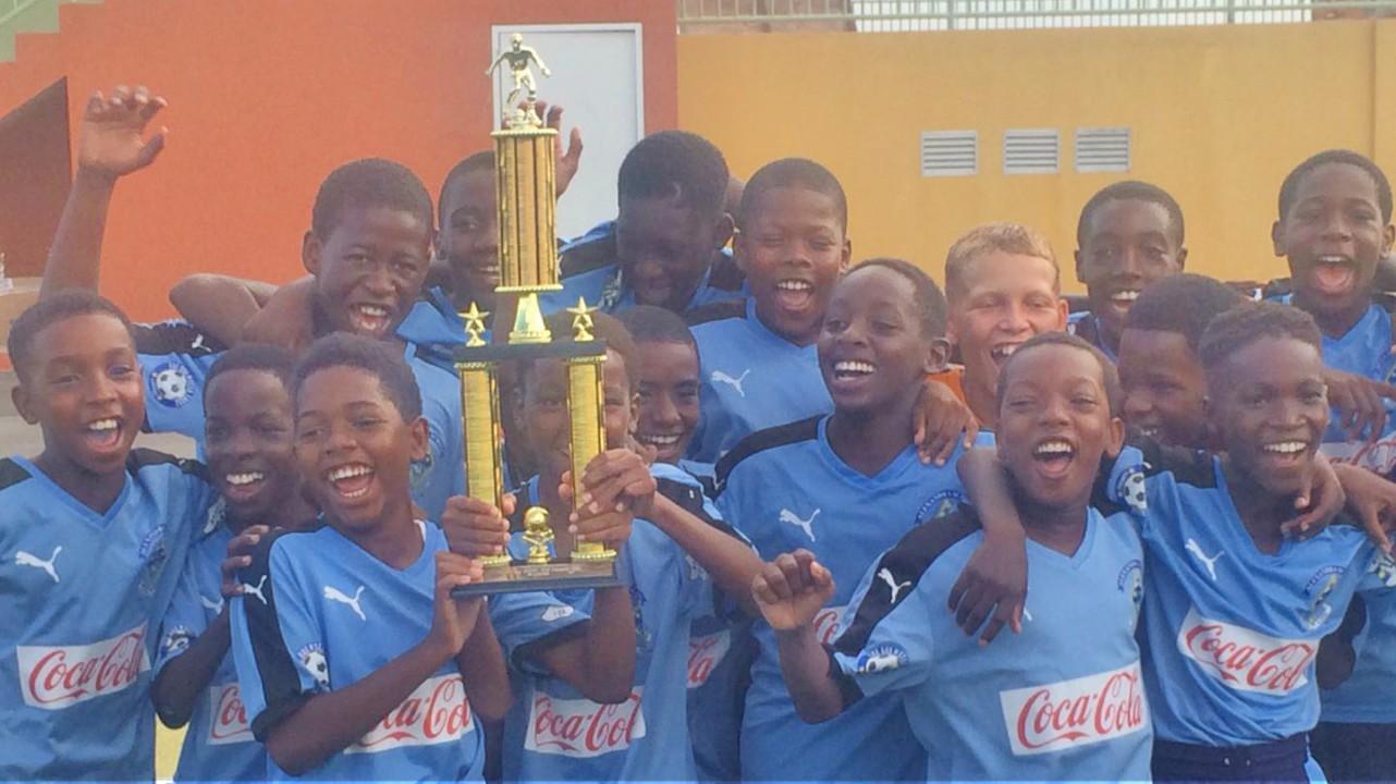 The triumphant Alexandra School team.
