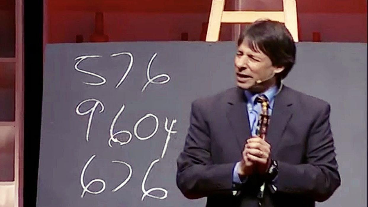 Art Benjamin verrast iedere keer weer zijn publiek, wanneer hij veel sneller dan een calculator het antwoord weet op moeilijke wiskunde sommen.