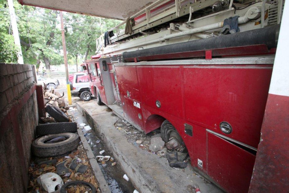 Les conditions des sapeurs de pompiers à Port-au-Prince sont lamentables et inquiétantes pour le pays./Photo: La Presse.ca
