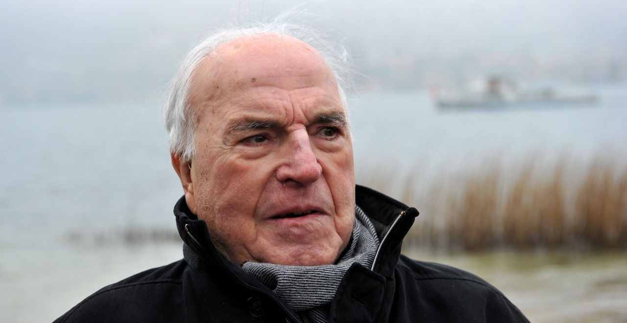 The April 5, 2013 file photo shows former German chancellor Helmut Kohl on the shore of Lake Tegernsee in Bad Wiessee, southern Germany.