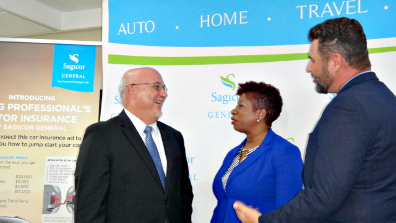 (L-R) Sagicor Life Chief Operating Officer and General Manager, Edward Clarke; Vice President of Underwriting, Wanda Mayers; and Vice President of Marketing and Business Development, Mark Blakely.