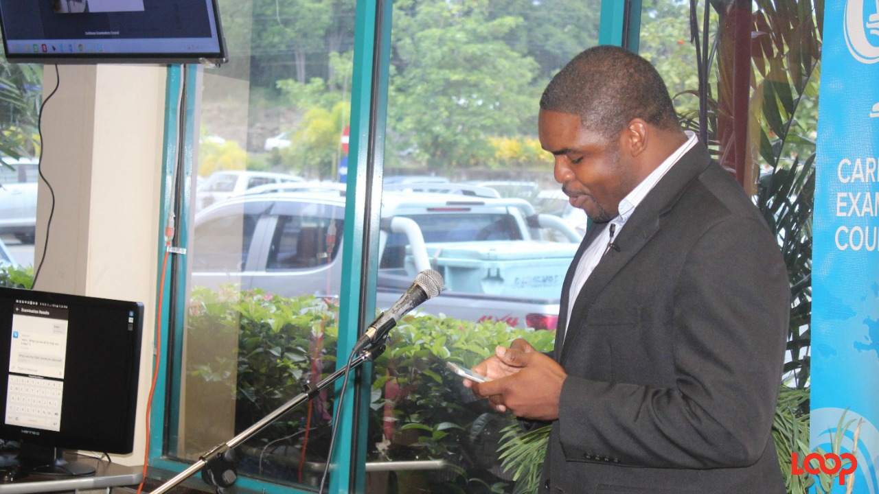 CXC's Assistant Registrar - Webmaster Ayodele Pompey gave a demonstration of the app at the launch in Barbados on Wednesday.