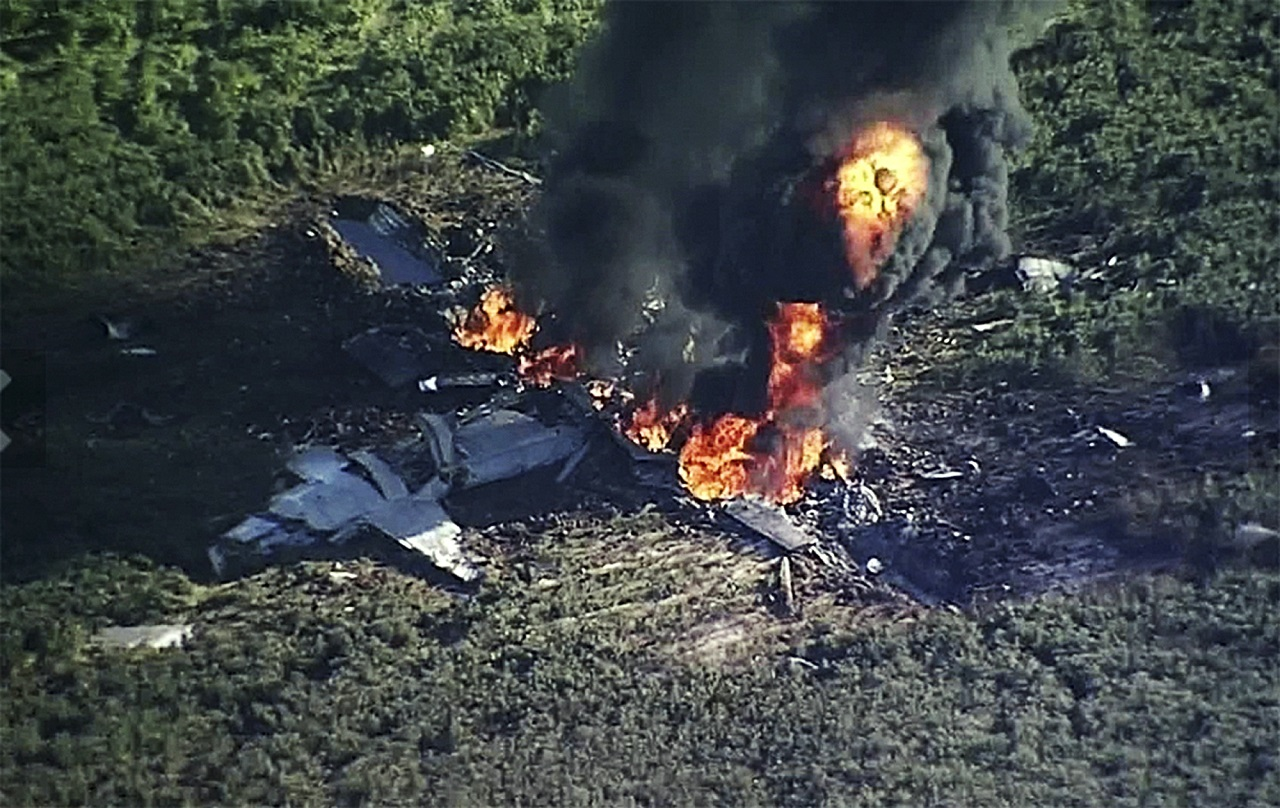 16 killed as USA military plane crashes