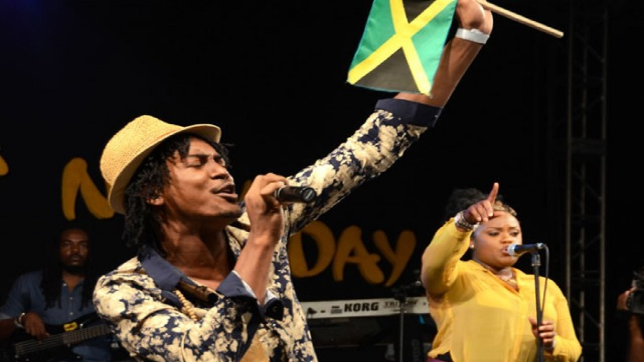 Winner of the 2014 Jamaica Festival Song contest, Deep Jahi performs his winning piece, 'I Love Ja' at the finals of the competition, hosted by the Jamaica Cultural Development Commission (JCDC) at the Ranny Williams Entertainment Centre in Kingston on Sunday, July 27. (PHOTO: JIS)