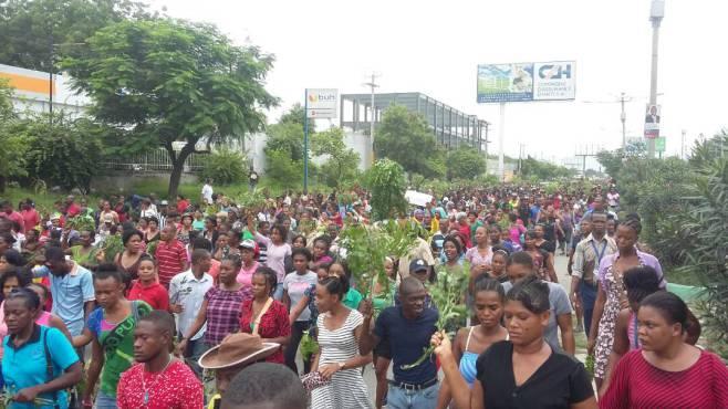 Photo prise lors d'une récente manifestation des ouvriers